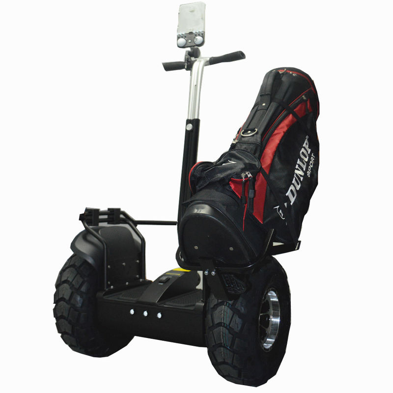 Standing Two Wheel Scooter Golf Bag Carrier Adults Self Balancing Electric Vehicle