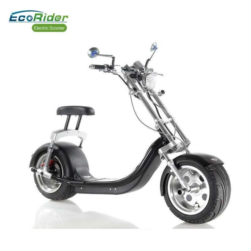 "60V 12AH Lithium Battery Electric Harley scooter with CE , 18""*9.5 inch Fat Tire"