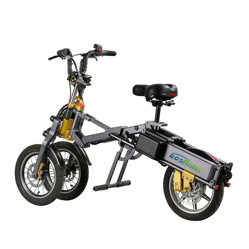 Three Wheel Foldable Electric Scooter , Electric Powered Bicycle 4-5h Charger Time